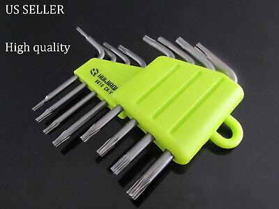 - 8pcs/set Folding Torx Key Wrench Star Driver Set T5 T6 T7 T8 T9 T10 T15 T20