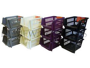 3-Tier-Plastic-Stacker-Vegetable-Veg-Rack-Storage-Basket-Tray-Kitchen-Office