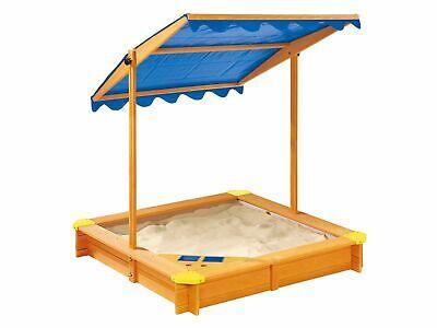 Sandkasten mit Dach (UV Schutz) und Spielecke, Bodenplan, vorlasiert