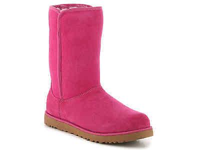 UGG Australia Michelle Women Boots Fuschia Pink Leather Suede Sz 5.5 NIB $200 ()