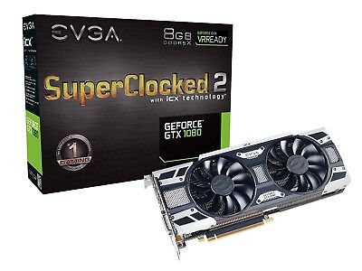 EVGA GeForce GTX 1080 SC2 Gaming, 8GB GDDR5XGraphics Card 08G-P4-6583-K