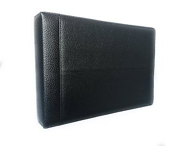 Officewerks Executive Check Binder Black Padded Leather Look And Feel 7 Ring
