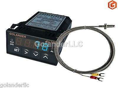 Universal 132din Digital Pid Temperature Controller Blue With K Thermocouple