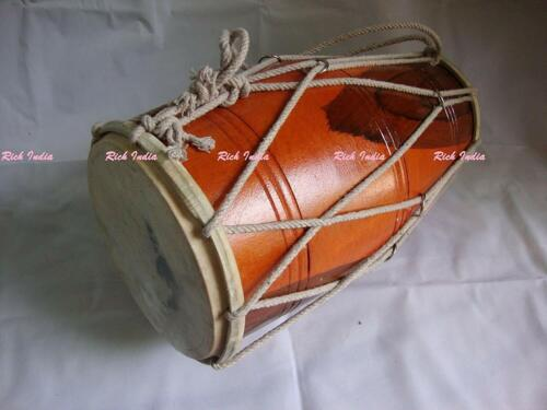 Wooden Musical Dholak Instrument Drum With Carry Bag