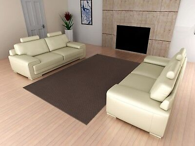 Area Rug Carpet 5 x 7 Ft Solid Square Floor Rugs Living Room Modern Decor Brown
