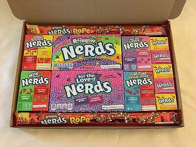Wonka Nerds Americano Dulces Caja de Regalo Eeuu Candy Cesto Retro Juego