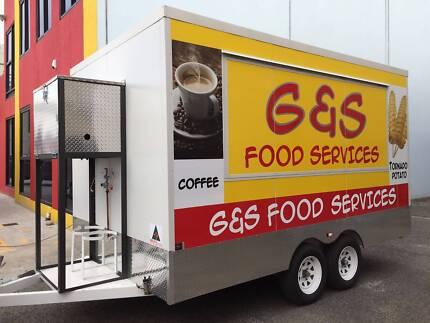 Tandem Food Van Trailer 4000x2460x2200