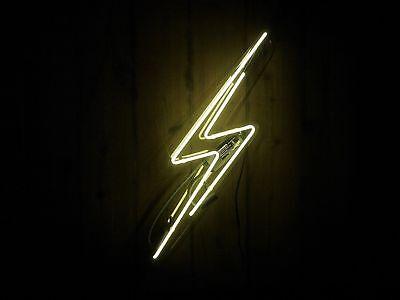 "New Lightning Bolt Acrylic Neon Light Sign 14"""