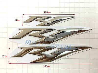 New R1 Raised 3D Chrome Emblem Yamaha YZF-R1 Silver Decals Tank Fairing Sticker for sale  Shipping to Canada