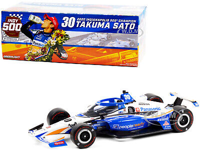 DALLARA INDYCAR #30 T. SATO INDIANAPOLIS 500 CHAMPION 2020 1/18 GREENLIGHT 11101