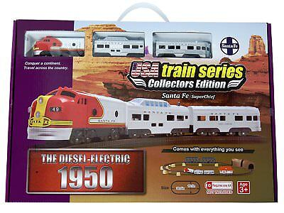 LEC USA 1950's Passenger Santa Fe toy Battery Powered Train Set 506662 NIB NEW for sale  Dallas