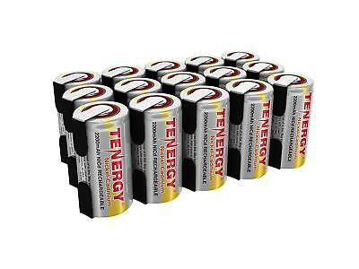 15x Tenergy 2200mAh SubC NiCd Rechargeable Batteries For Power Tools w/ Tab 1.2V