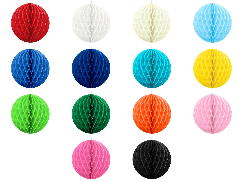 Wabenball 10 cm Honeycomb Pom Pom Papier Deko Hochzeit Raumdeko Wabenbälle