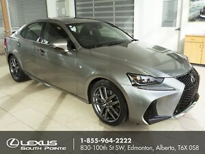 2017 Lexus IS 350 F SPORT Series 2 DEMO w/ navigation, backup...