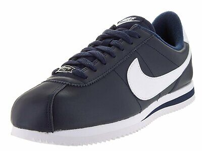 Metallic Silver Obsidian (Nike Cortez Basic Leather Obsidian/White-Metallic Silver (819719 410) )