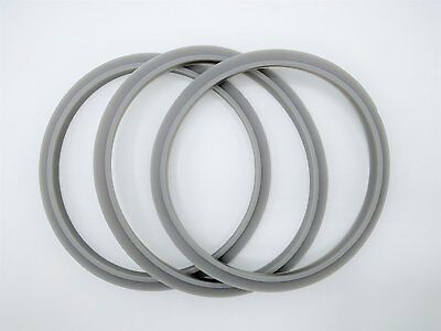 Blendin Set of 3 Gaskets with Lip, Fits Nutribullet 900W Blenders Juicers