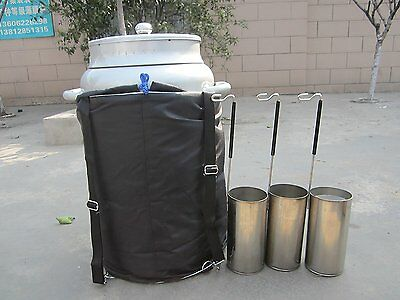 10l Wide Mouth Cryogenic Container Liquid Nitrogen Ln2 Tank Straps Carry Bag