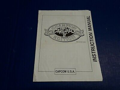 Street Fighter II Champion Edition Video Arcade Game  Instruction Manual by CAPC