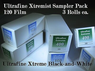 Xtremist Sampler Ultrafine Xtreme B&W 120 Film ISO 100 & 400 Sample 6 Roll Pack