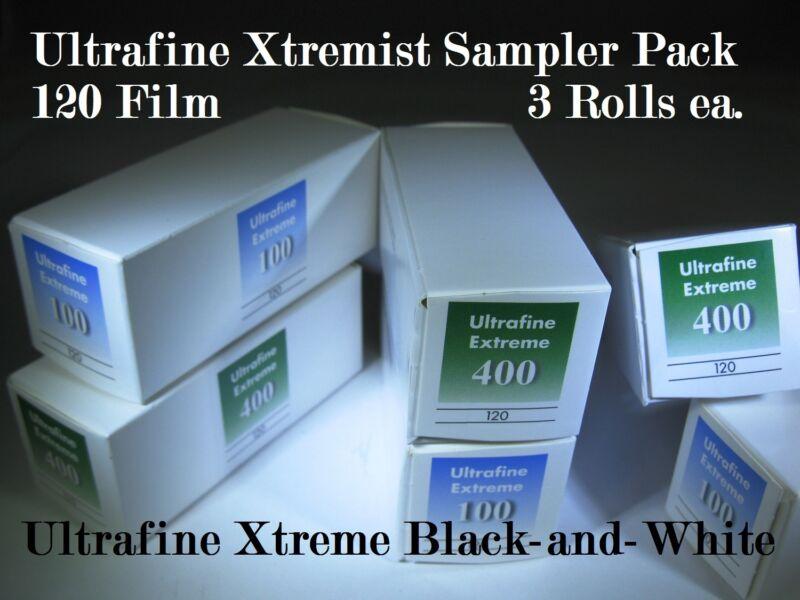 Xtremist Sampler Ultrafine Xtreme B&W 120 Film ISO 100 & 400 Sample 6 Roll Pack