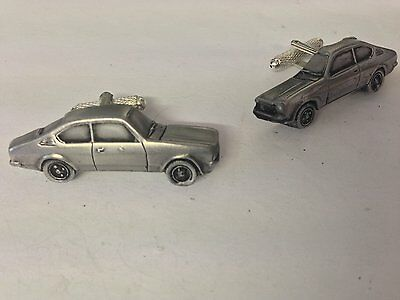 Opel Kadett 3D cufflinks classic car pewter effect cufflinks ref172 for sale  Shipping to United States