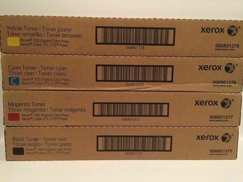 XEROX Color 700 700I 770 C75 J75 CMYK TONER SET 6R1375 6R1376 6R1377 6R1378