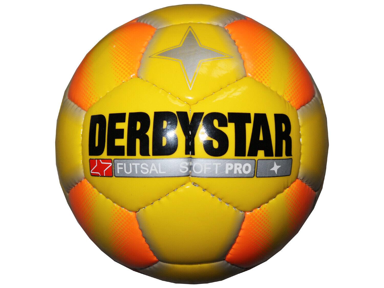Derbystar Futsal-Ball Soft Pro gelb Gr.4 Hallen-Fussball Indoor-Fußball