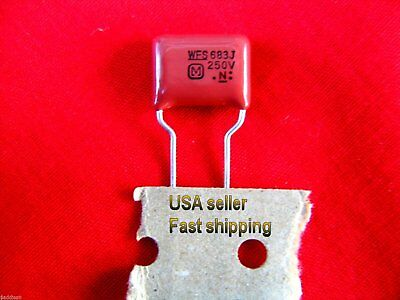 4 pcs  -  .068uf (0.068uf) 250v  5%  metalized film capacitors (L) FREE SHIPPING