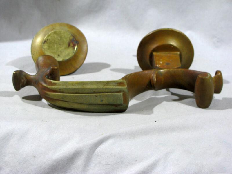 Antique SOLID BRASS DOOR KNOCKER
