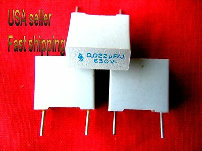 50pc - .022uf 0.022uf 22nf 630v Metalized Film Capacitors Gry