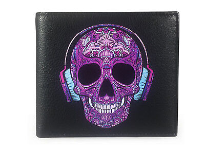 Corder London Candy Skull DJ Real Leather Wallet RFID Shielding Gift Boxed (Candy Wallet)