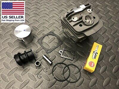 Replacement Piston (Replacement cylinder piston Stihl 036 MS360 48mm Gaskets Intake bearing NGK)