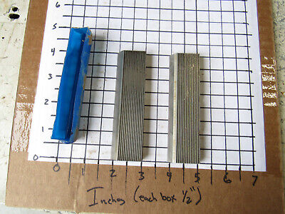 Pair Straight Edge Moulder Blades Bits Knives 516 Corrugated Back Shaper Route