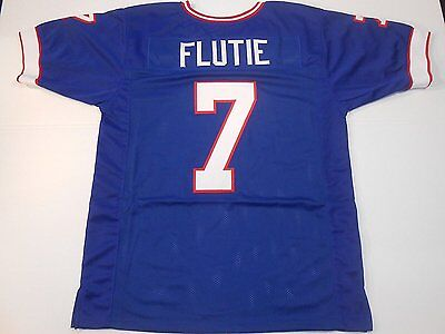 Unsigned Custom Sewn Stitched Doug Flutie Blue Jersey   M  L  Xl  2Xl
