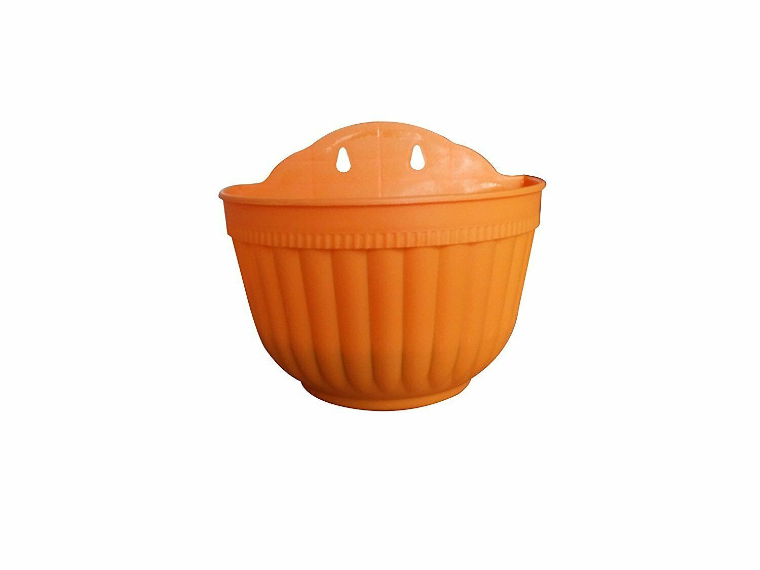 Plastic Hanging Planter With Hooks,Balcony,Deck Rail,5 Color