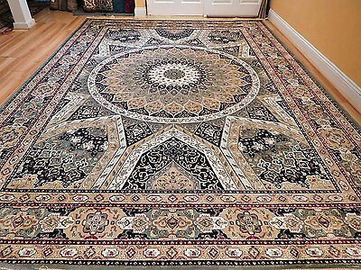 Silk Persian Rugs 8x10  Hand Knotted Fringes 5x8 Traditional Rug 2x8 Runner