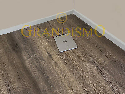 12mm Dark Oak Laminate Wood Flooring - Click System - V Groove - High Quality