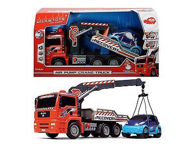 Dickie Toys Air Pump Crane Truck Abschleppauto mit Luftpumpfunktion NEU