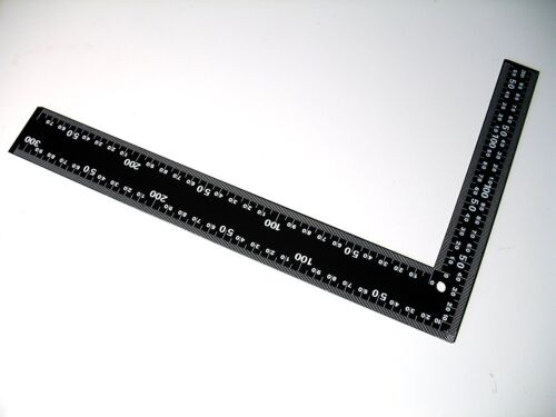 20 X 30CM STEEL FRAMING SQUARE RIGHT ANGLE STRAIGHT EDGE L RULER 300MM