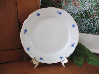 German Kahla Cornflower Blue Salad Plate ~ circa 1970's