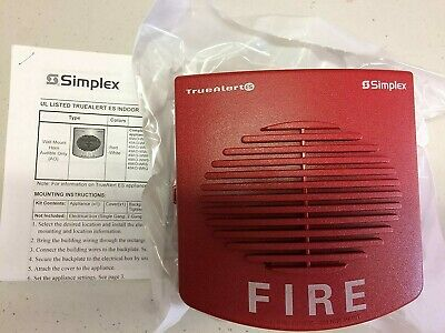 Simplex 49ao-wrf Horn Addressable Multi Candela Wall Mt With Fire Markings Red