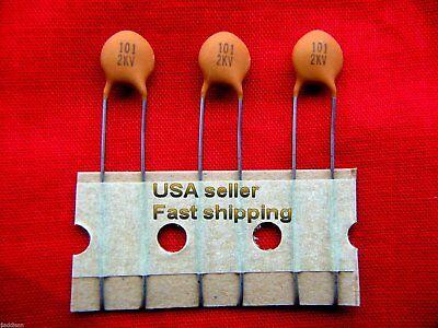 25 Pcs - 100pf .0001uf 2kv Radial Ceramic Capacitors