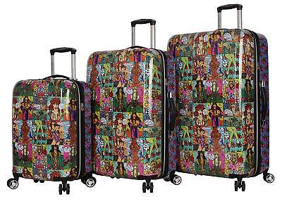 NEW! Betsey Johnson Girls Comic Travel Suitcase Luggage Bag Carry On 20