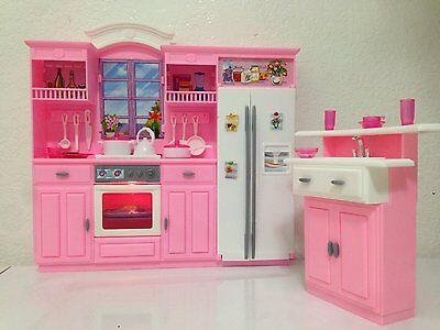 Barbie Size Dollhouse Furniture - My Fancy Life Kitchen Play Set, New