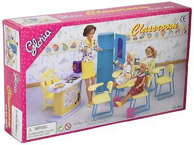 Gloria Barbie Size Dollhouse Furniture Classroom Play Set