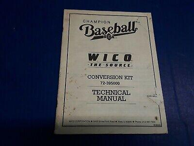 Champion Baseball Technical Manual by SEGA