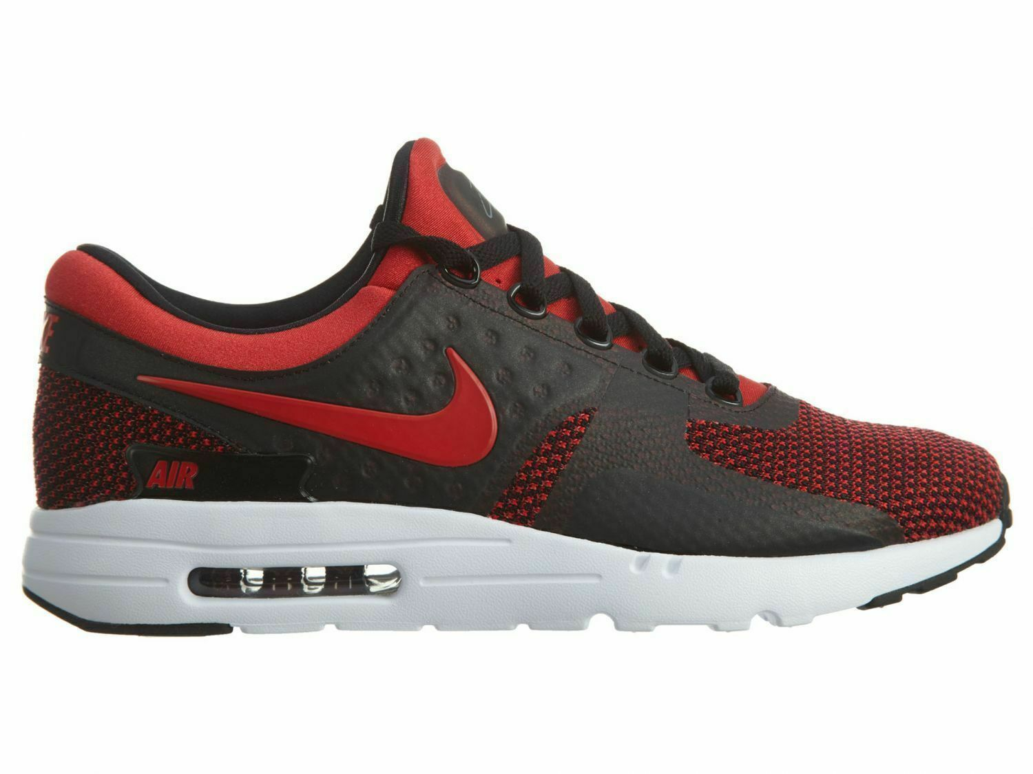 new product 84cc5 c73bb Nike Air Max Zero Essential 0 Men Lifestyle Shoes Black Red Bred 876070-600  11.5
