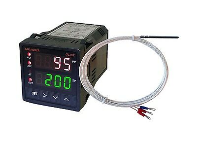 Dual Display Digital Pid Fc Temperature Controller With Pt100 Probe
