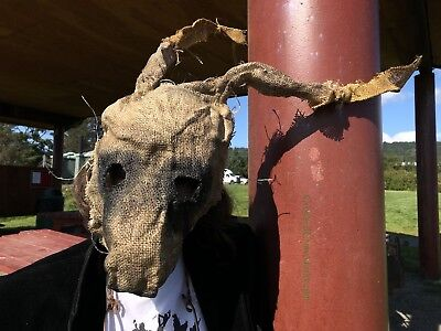 Creepy Rabbit Burlap Scary Horror Mask - Scarecrow Adult Halloween Purge Mask](Scary Rabbit Mask Halloween)