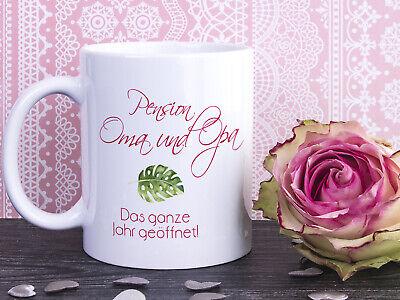 Geschenk Oma und Opa Tasse Rosa Flamingos Kaffeebecher Geschenkidee Weihnachten